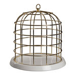 thumbnail of Twitable Gold Birdcage with Porcelain Base