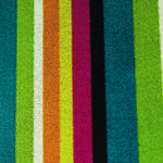 thumbnail of Bold Stripe Shag Indoor/Outdoor Floor Mat