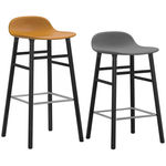 thumbnail of Form Bar + Counter Stool: Black-Lacquered Oak Upholstered