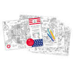 thumbnail of Coloring Paper Placemats City Maps: USA Edition