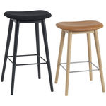 thumbnail of Fiber Bar + Counter Stool Upholstered: Wood Base