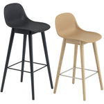 thumbnail of Fiber Bar + Counter Stool With Backrest: Wood Base