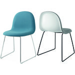 thumbnail of 3D Dining Chair: Sledge Base + Front Upholstery
