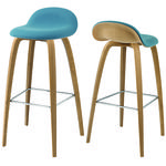 thumbnail of 3D Bar + Counter Stool: Wood Base + Front Upholstery