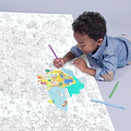 A+R Store - Giant Coloring Roll Posters: Maps of US + World Atlas ...