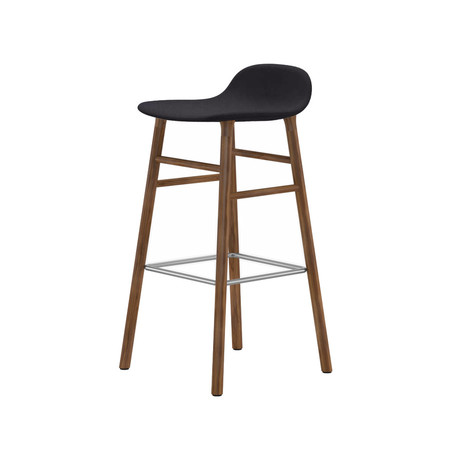 A R Store Form Bar Counter Stool Walnut Upholstered