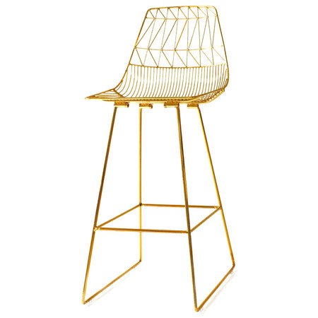 A R Store Lucy Bar Counter Stool Metallic Product